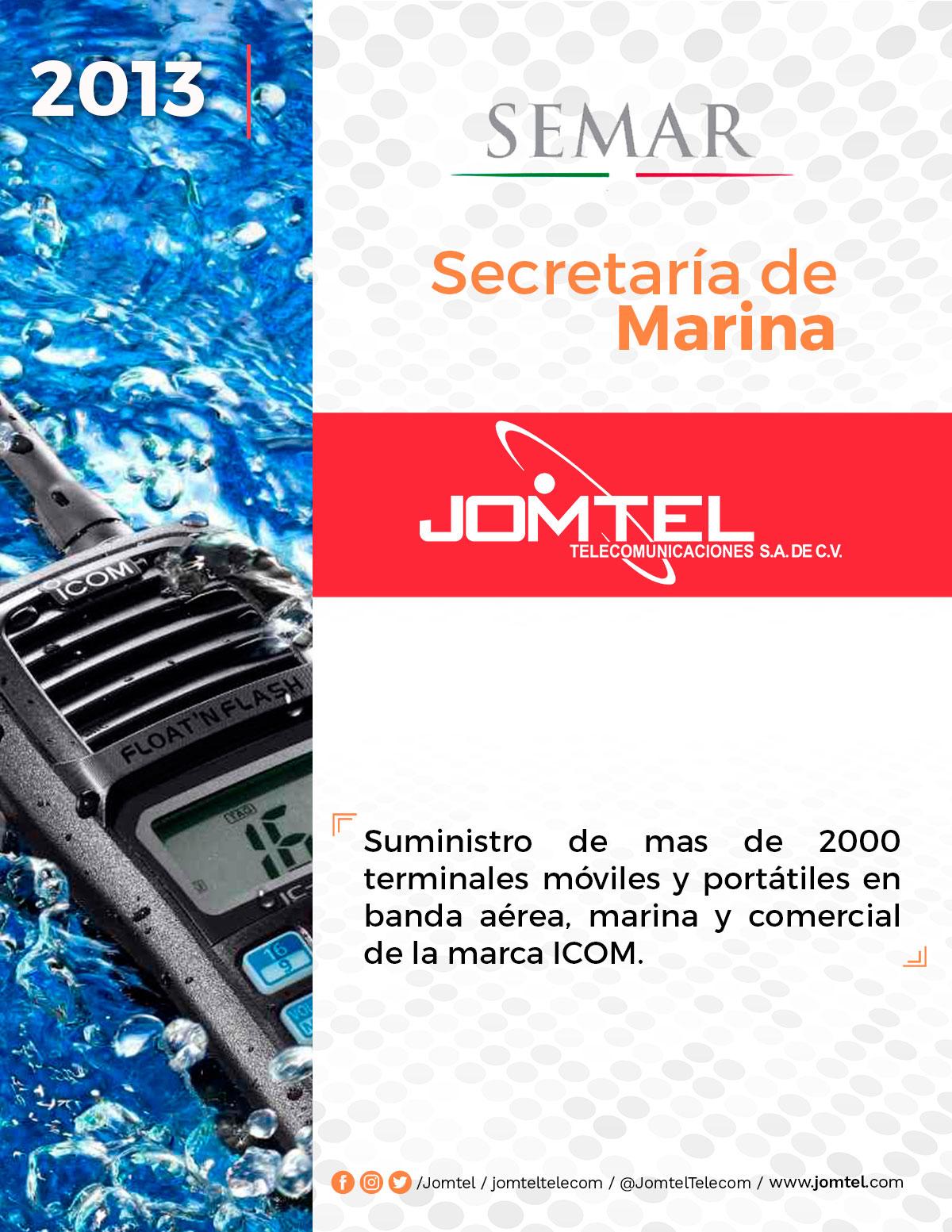 SECRETARÍA DE MARINA VENTA DE RADIOCOMUNICACIÓN JOMTEL