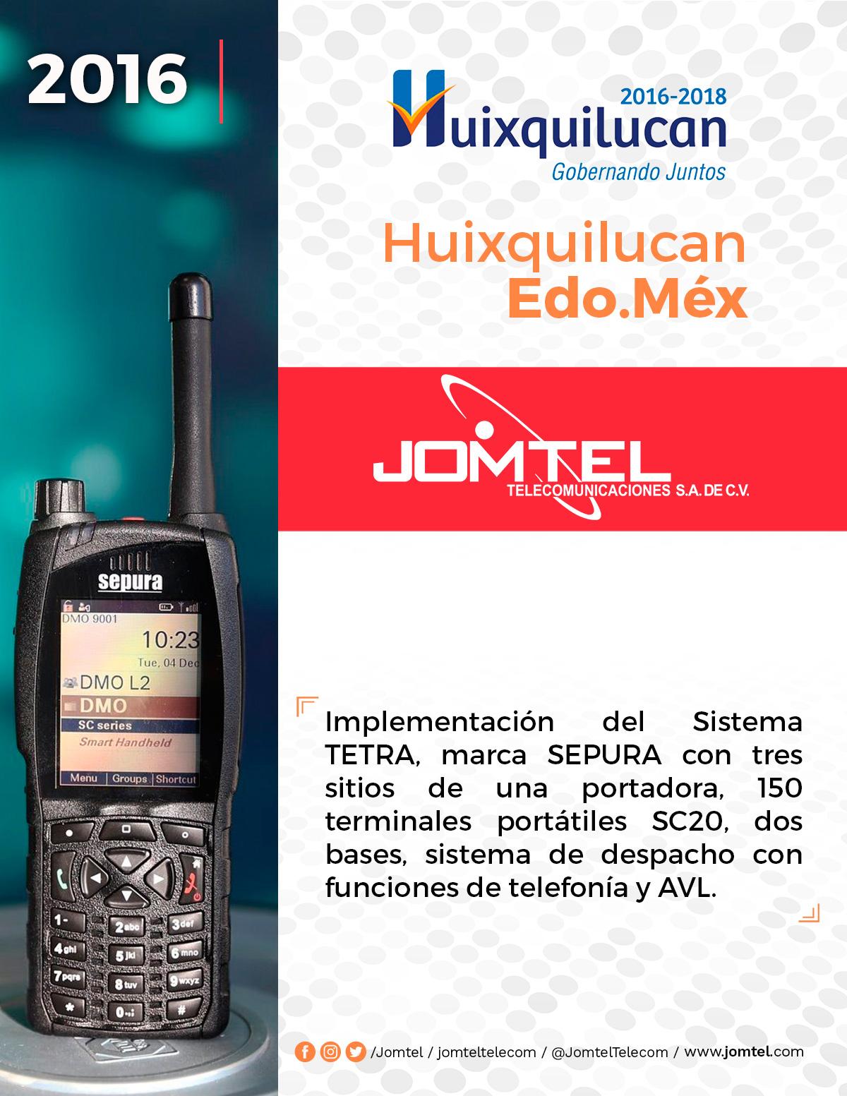 HUIQUILUCAN PROYECTO DE RADIOCOMUNICACIÓN JOMTEL