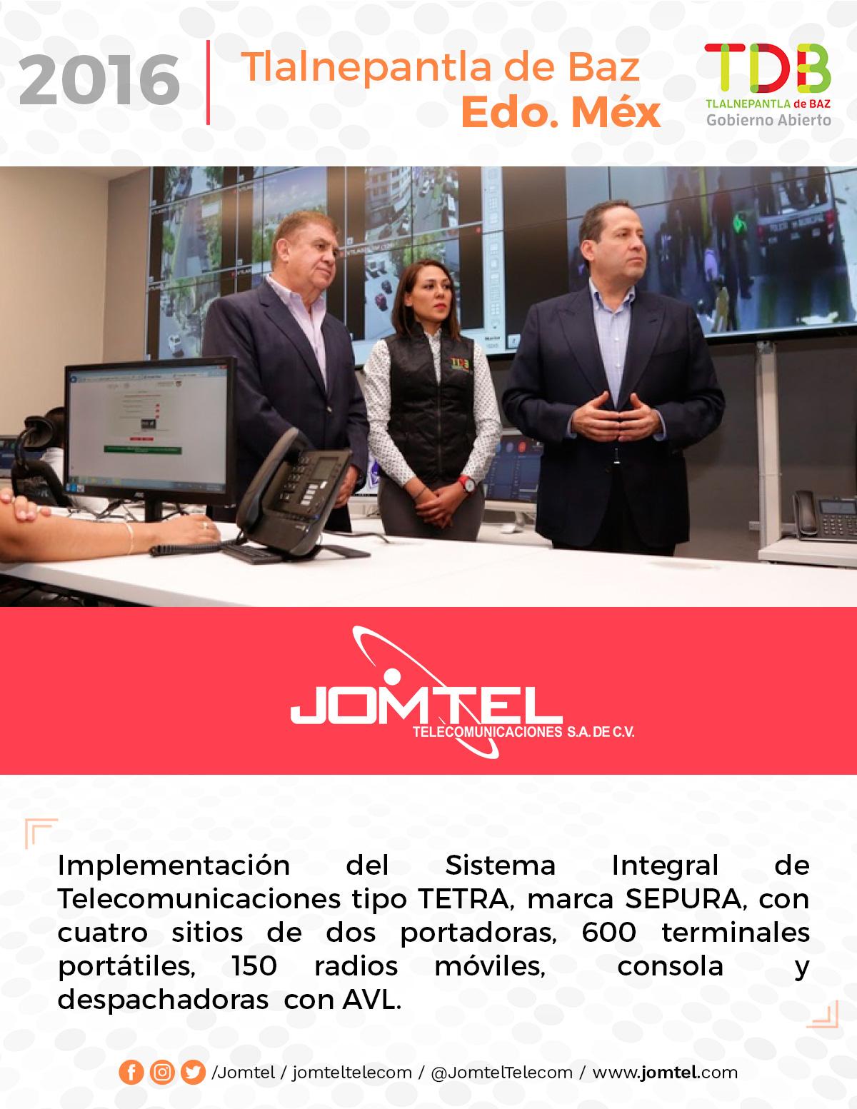 TLALNEPANTLA DE BAZ PROYECTO RADIOCOMUNICACIÓN JOMTEL